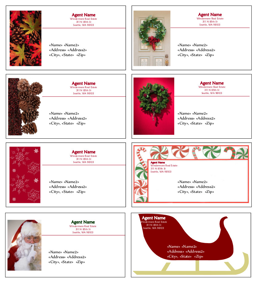 Sample Holiday Labels