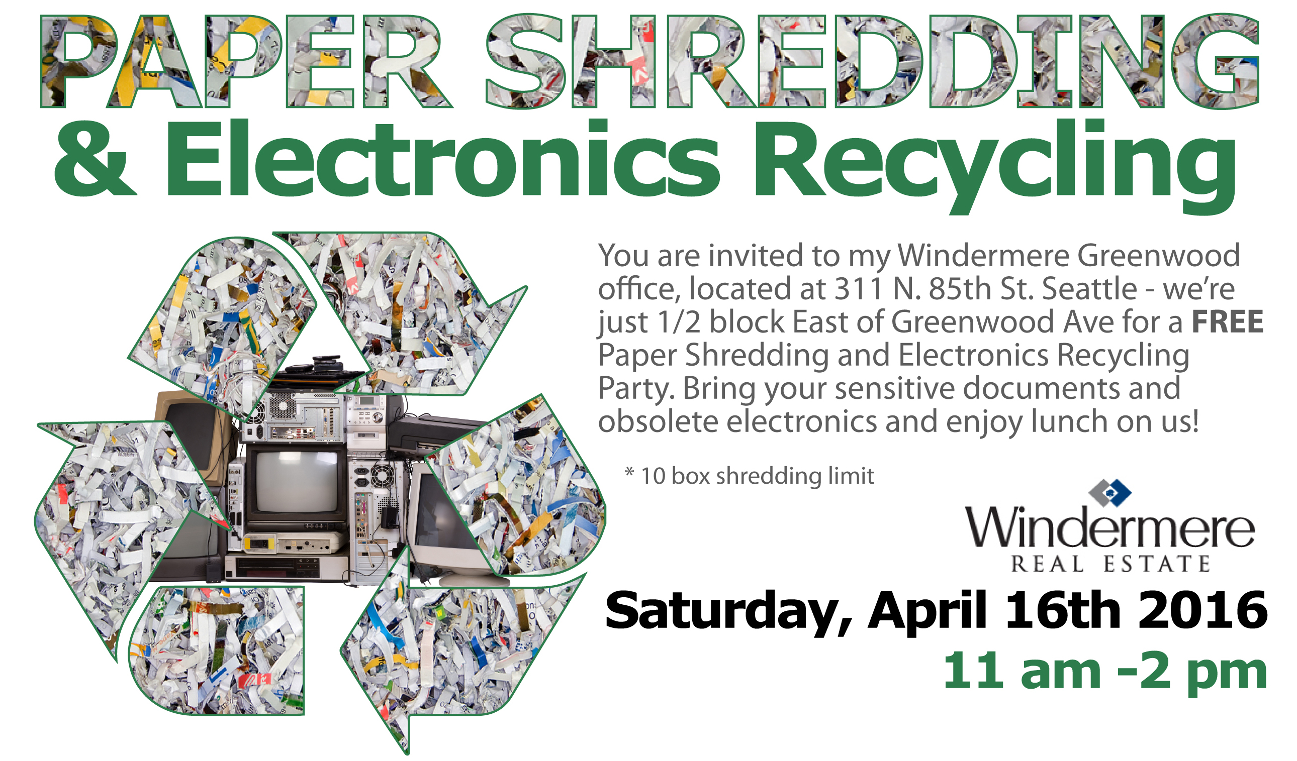 Annual Paper Shredding & Recycling Event