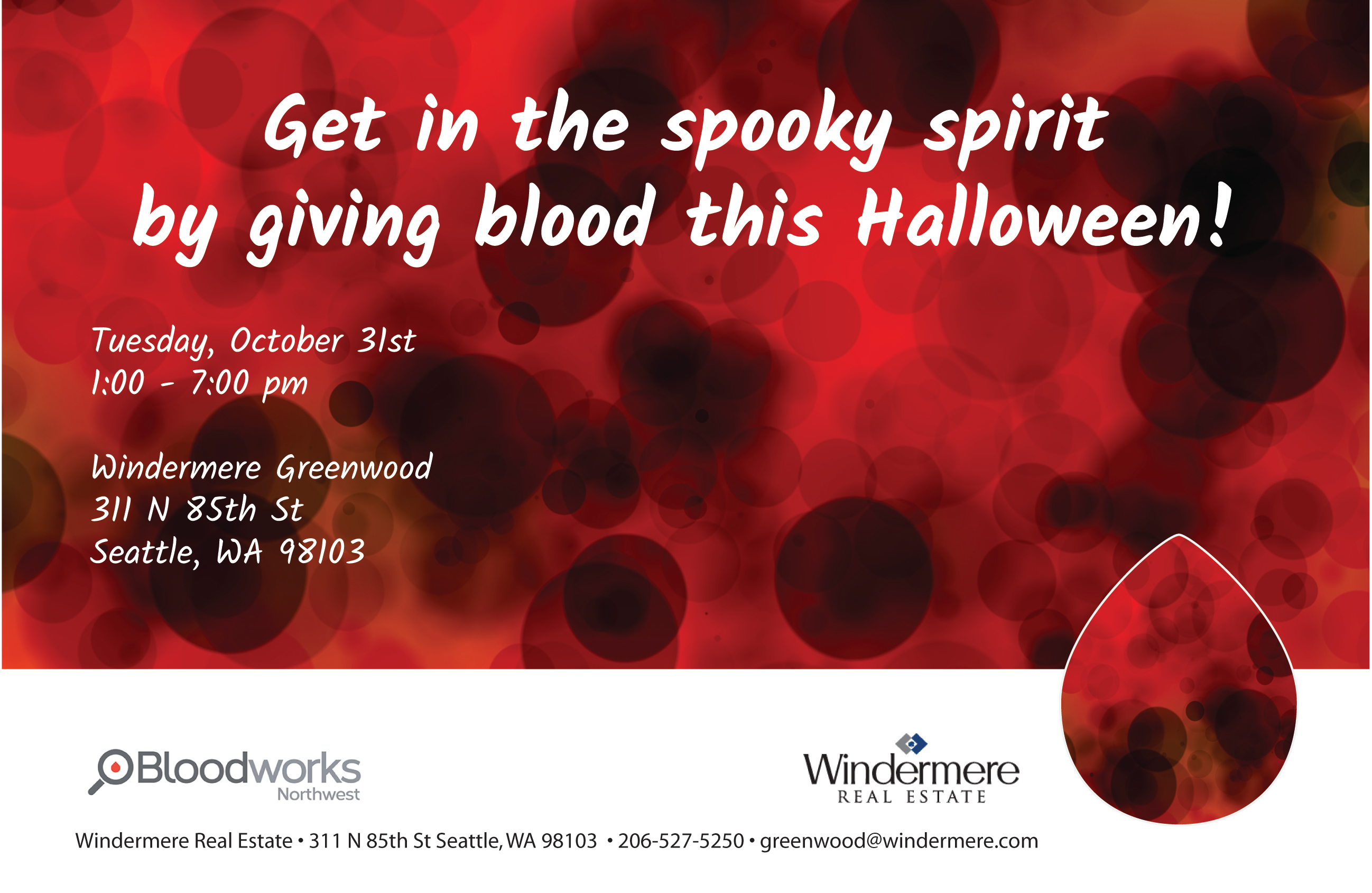 Windermere Greenwood Halloween Blood Drive